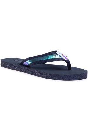 Tommy Hilfiger Japonki - Flat Beach Sandal Iridescent FW0FW05125 Desert Sky DW5