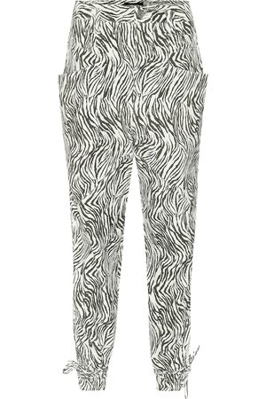 Isabel Marant Badeloisa zebra-print leather pants