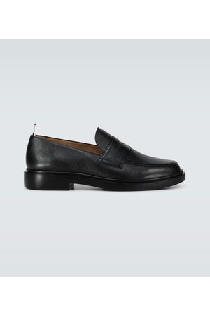Thom Browne Brogsy i Mokasyny - Grained leather penny loafers