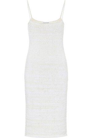 Bottega Veneta Cotton-blend knit slip dress