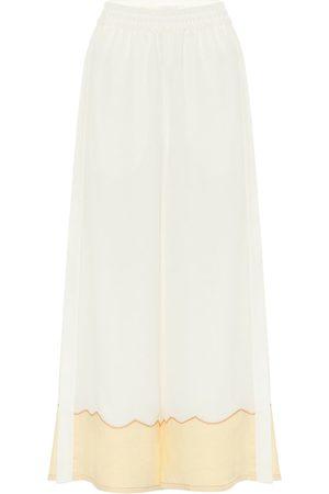 Chloé Silk-crêpe wide-leg pants