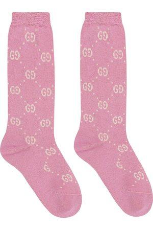 Gucci Kids Dziewczynka Skarpety - Lamé cotton-blend socks