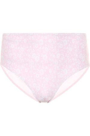 Ganni Kobieta Bikini - Floral high-rise bikini bottoms
