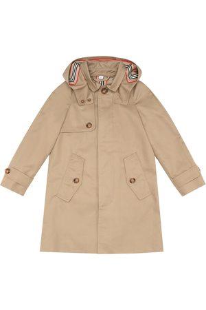 Burberry Chłopiec Parki - Bradley Icon Stripe cotton-twill parka