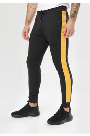 BORN2BE Czarno-Żółte Spodnie Clysiphe