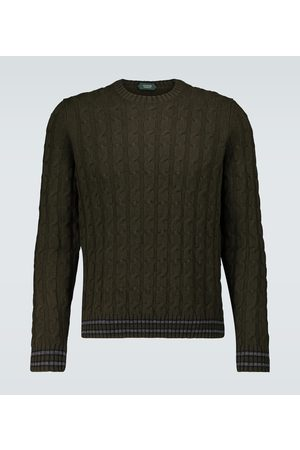 ZANONE Crewneck cable knitted sweater