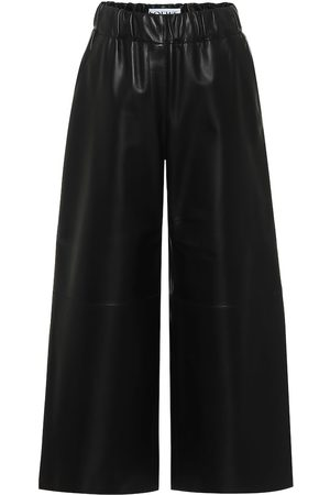 Loewe High-rise cropped leather pants