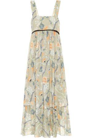 Chloé Empire-waist ramie midi dress