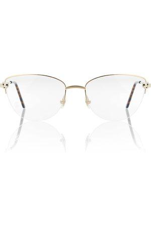 CARTIER EYEWEAR Panthère de Cartier cat-eye glasses