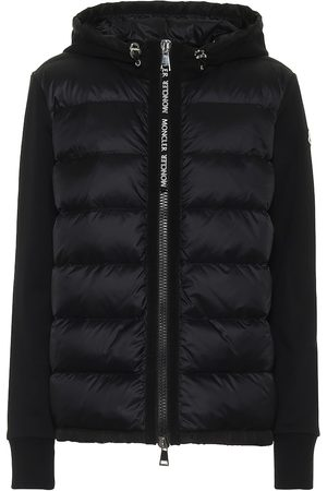 Moncler Cotton-jersey and down jacket