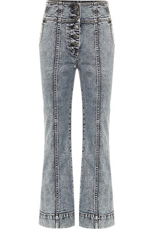 ULLA JOHNSON Ellis high-rise cropped bootcut jeans