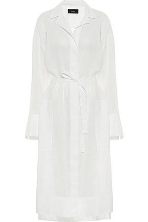 Joseph Kobieta Sukienki midi - Belted voile shirt dress