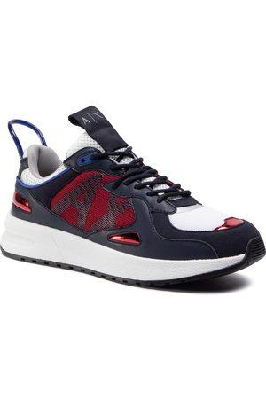 Armani Mężczyzna Sneakersy - Sneakersy - XUX070 XV241 B667 Navy/Red