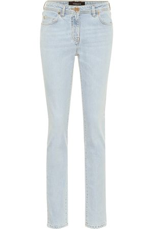 VERSACE High-rise slim-fit jeans