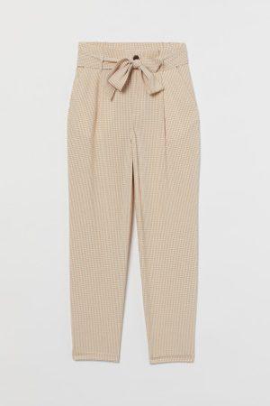 H&M Kobieta Torebki - Spodnie z talią paper bag