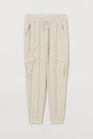 H&M Kobieta Spodnie dresowe - Joggersy utility z lyocellu