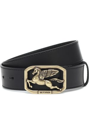 Etro Pegaso leather belt