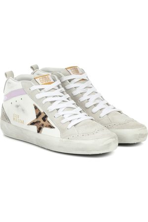 Golden Goose Mid Star leather and suede sneakers