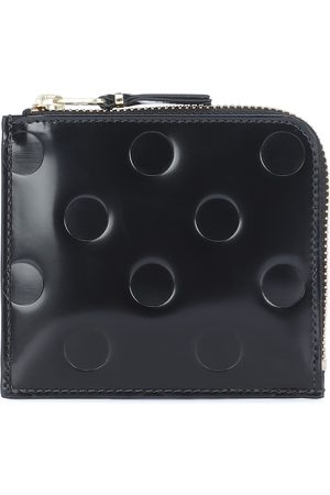 Comme des Garçons Dots Small embossed leather wallet