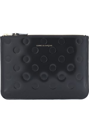 Comme des Garçons Dots Large embossed leather pouch