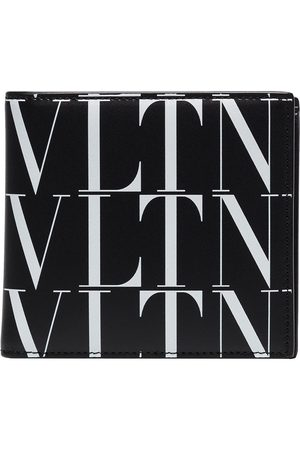 VALENTINO GARAVANI VLTN logo leather bifold wallet