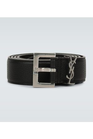 Saint Laurent Paski - Slim grained leather belt