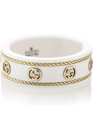 Gucci Kobieta Pierścionki - Icon Interlocking G zirconia and 18kt gold ring