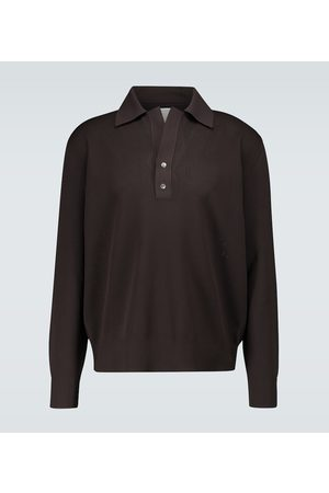 Bottega Veneta Knitted long-sleeved polo shirt
