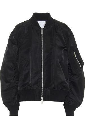 SACAI Kobieta Bomberka - Nylon bomber jacket