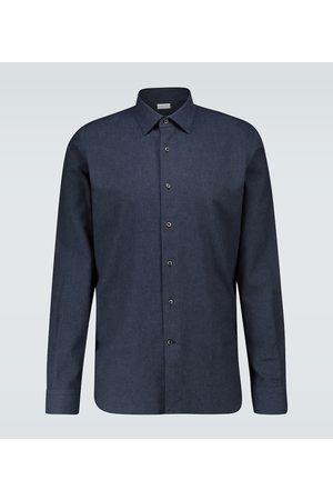 CARUSO Mężczyzna Na co dzień - Slim-fit long-sleeved cotton shirt