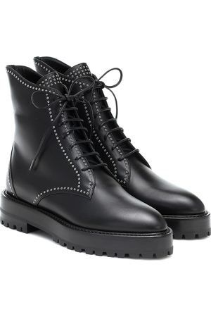 Alaïa Lace-up leather ankle boots