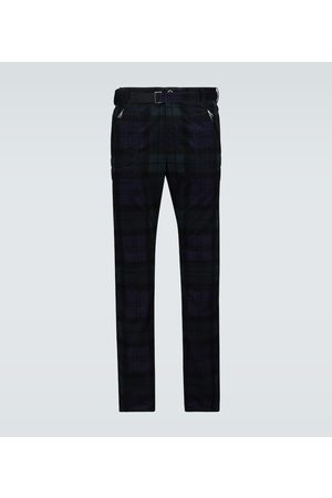 SACAI Checked corduroy slim-fit pants