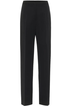 Jil Sander Kobieta Rurki - High-rise slim wool pants