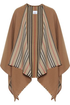 Burberry Icon Stripe wool cape