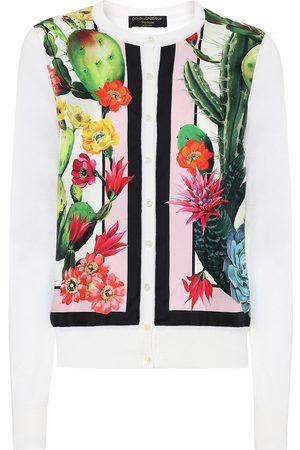 Dolce & Gabbana Kobieta Kardigany - Exclusive to Mytheresa – Printed silk and cashmere cardigan