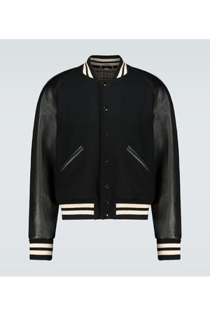 Gucci Varsity wool and leather jacket