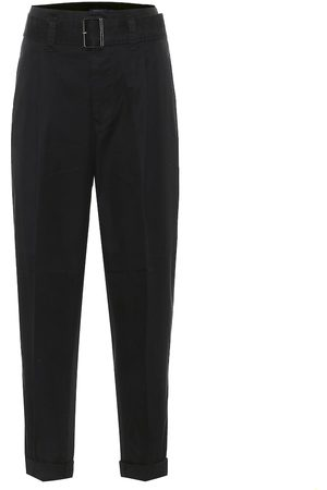 Polo Ralph Lauren Belted high-rise slim cotton pants