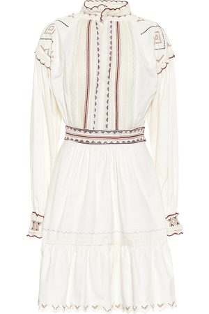 Etro Embroidered cotton minidress