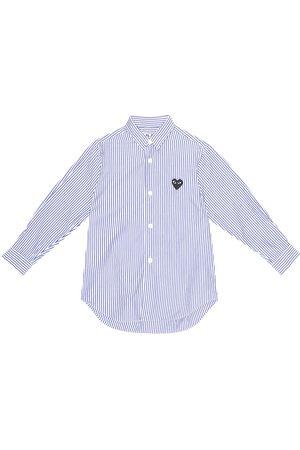 Comme de Garçons Play Kids Striped cotton poplin shirt