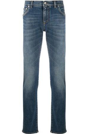 Dolce & Gabbana Mężczyzna Rurki i Slim Fit - Blue