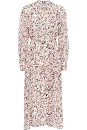 Chloé Floral silk georgette midi dress