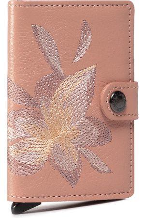 Secrid Mały Portfel Damski - Miniwallet MSt Stitch Magnolia Rose