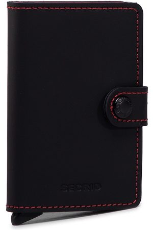 Secrid Mały Portfel Męski - Miniwallet MM Matte Black/Red