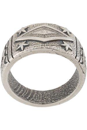 Nialaya Engraved sterling ring