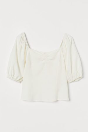 H&M Top z domieszką lnu