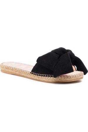 MANEBI Espadryle - Sandals With Bow K 1.0 J0 Black 1