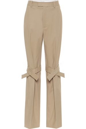 Bottega Veneta High-rise stretch cotton pants