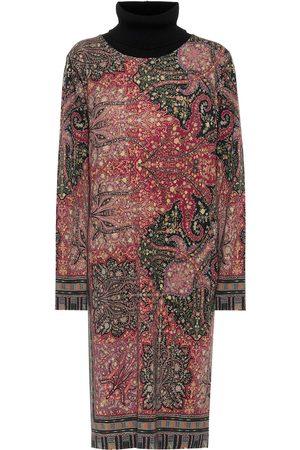 Etro Kobieta Sukienki midi - Paisley wool midi dress