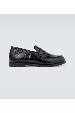 Loewe Mężczyzna Brogsy i Mokasyny - Slip-on leather loafers