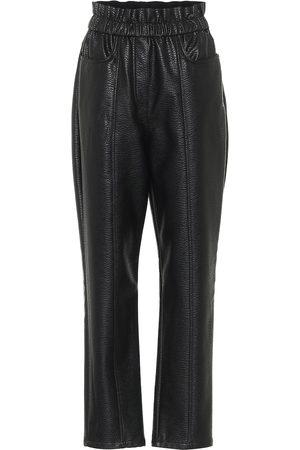 Serafini Kobieta Spodnie - High-rise faux leather pants